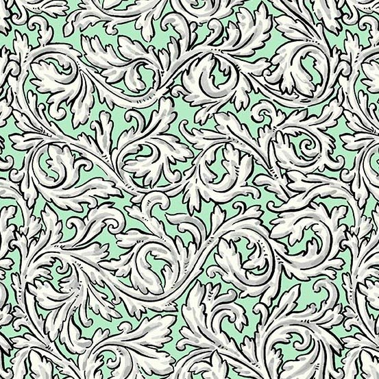 Flourish in Acanthus Spearmint by Molly Hatch from Andover Fabrics