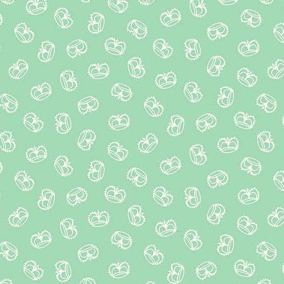 Flourish in Crown Spearmint by Molly Hatch from Andover Fabrics