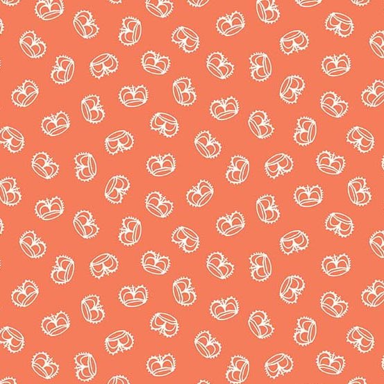 Flourish in Crown Coral by Molly Hatch from Andover Fabrics