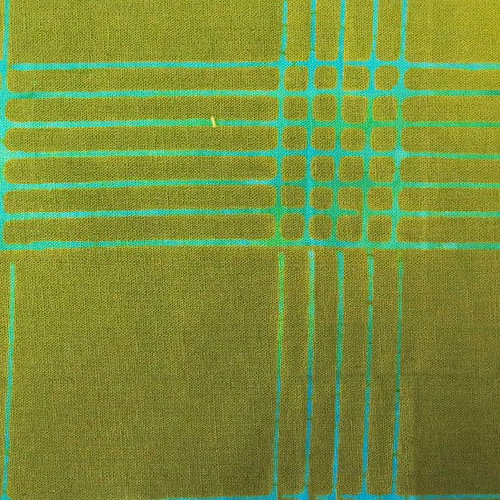 2.5 Yards - Olive Plaid from Chroma by Alison Glass for Andover Fabrics (AB-8132-G1)
