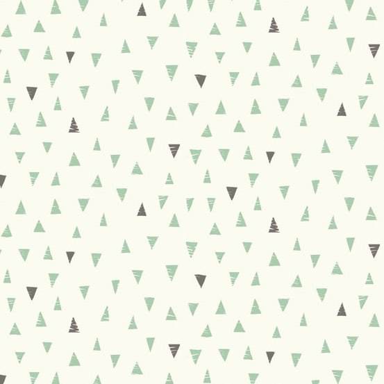 1yd-34  Doodle Day TRIANGLES (Turquoise) from Andover Fabrics