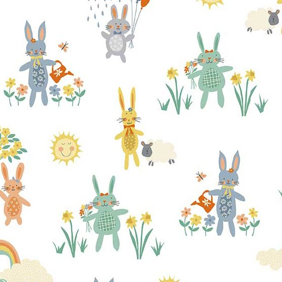 Counting Sheep in Bunnies in Andover Fabrics