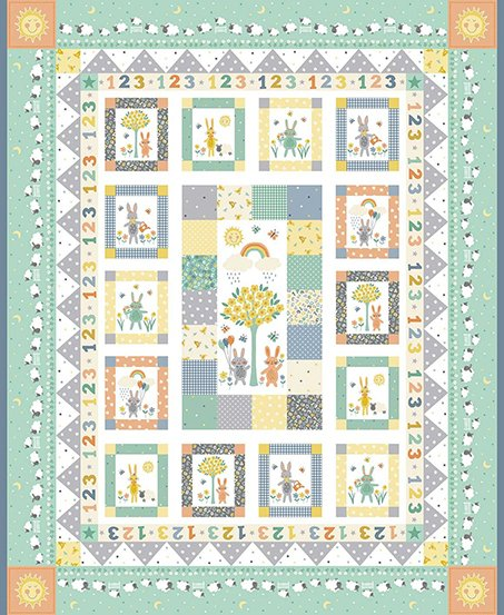 Counting Sheep PANEL in Andover Fabrics