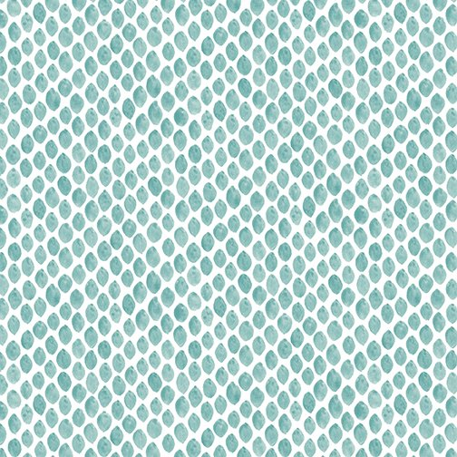 Almonds in Teal for By Hand by Amy Friend for Contempo