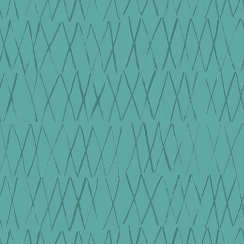 35 REMNANT - Toothpick in Teal for By Hand by Amy Friend for Contempo