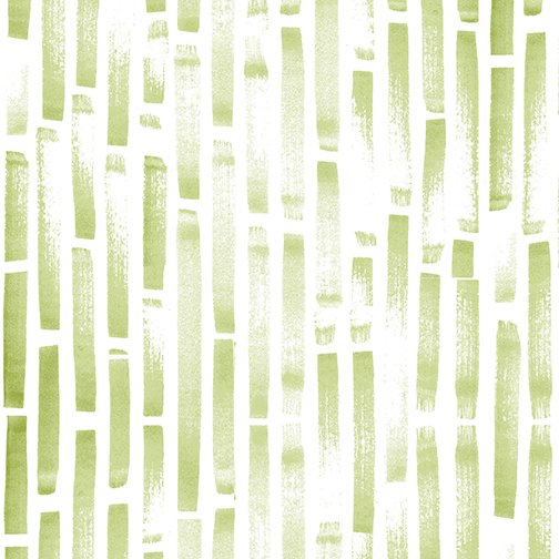 10 REMNANT - Stripe Fade for By Hand in Leaf by Amy Friend for Contempo