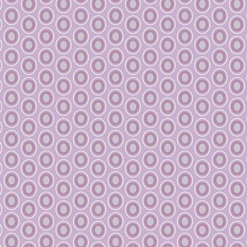 2 yards 24 - Oval Elements in Amethyst - Art Gallery Fabric
