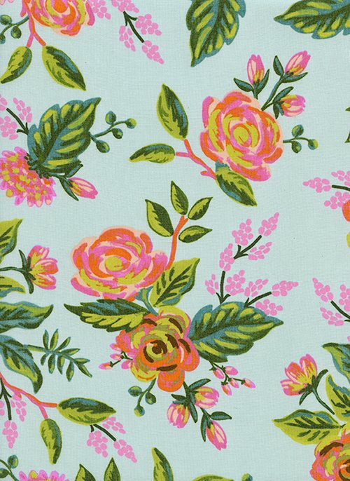 Jardin De Paris Mint RAYON from Menagerie by Anna Bond of Rifle Paper Co for Cotton + Steel