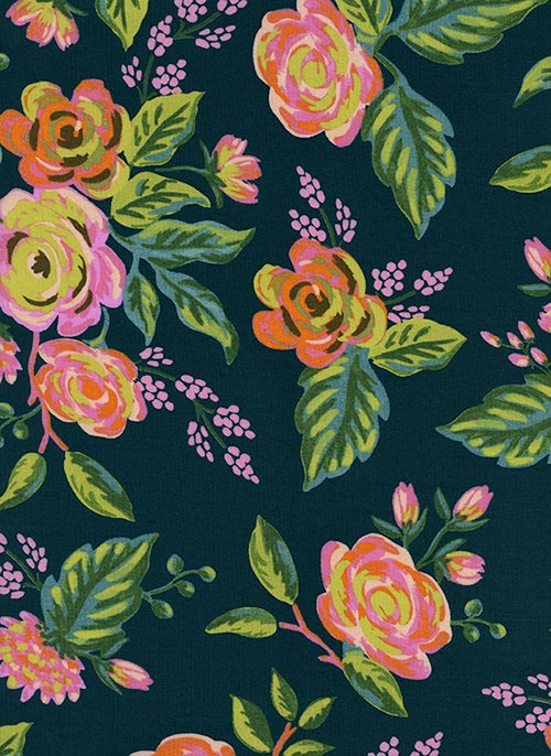 Jardin De Paris Navy RAYON from Menagerie by Anna Bond of Rifle Paper Co for Cotton + Steel