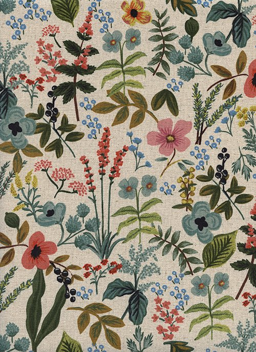 Herb Garden Natural Canvas from Amalfi by Anna Bond of Rifle Paper Co for Cotton + Steel