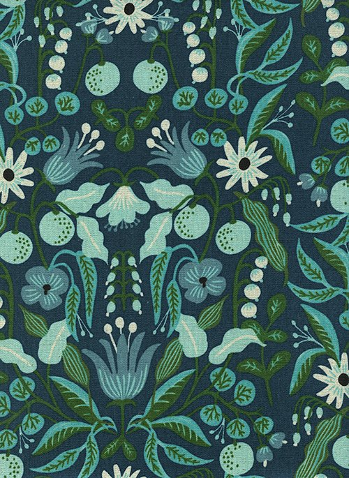 9 REMNANT - Freja Turquoise Canvas from Amalfi by Anna Bond of Rifle Paper Co for Cotton + Steel