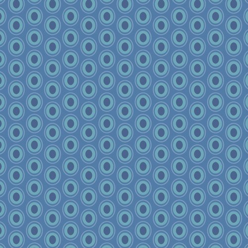 2Yards 5 - Oval Elements in Sapphire - Art Gallery Fabric