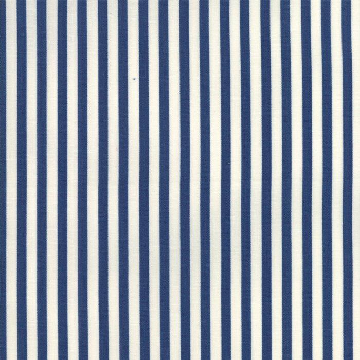 Essentially Yours in Basic Essential Stripe Dark Blue by Moda Classic for Moda