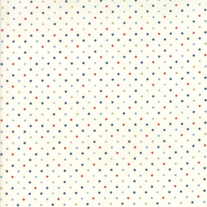 Essentially Yours in Basic Essential Dots White by Moda Classic for Moda