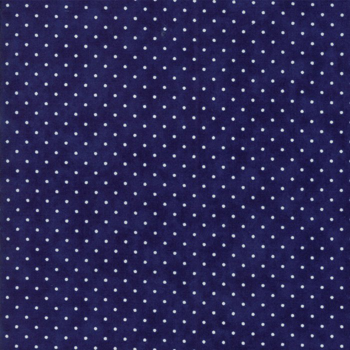 Essentially Yours in Basic Dots Dark Blue by Moda Classic for Moda
