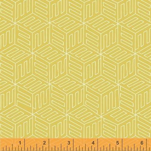 1 Yard 11 - Mono Box in Yellow from Maribel by Annabel Wrigley