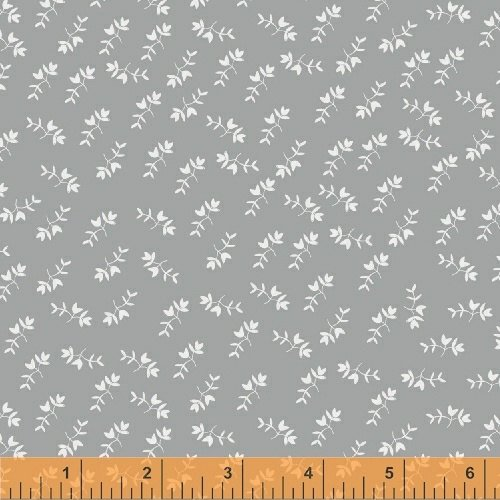 2 Yards - Mono Floral in Gray from Maribel by Annabel Wrigley