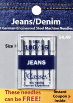 Klasse Jeans/Denim needles 100/16