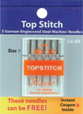 Klasse Top Stitch Needles 80/12