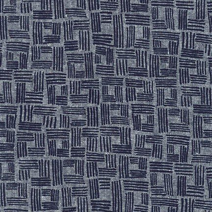 Forage Linen in INDIGO Grid by Robert Kaufman