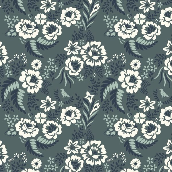 Merryweather CANVAS in Merry Floral Slate from Birch
