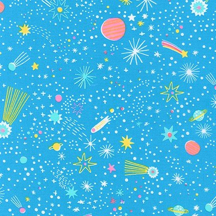 Planets in Blue by Hello!Lucky from Magical Rainbow Unicorns for Robert Kafman
