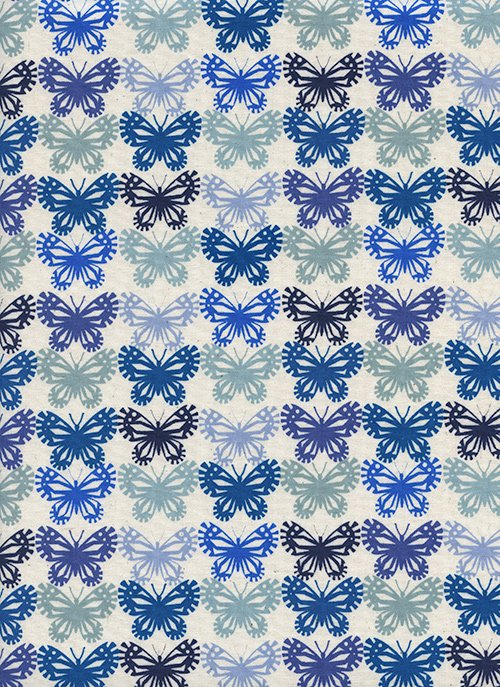 Butterflies Blue Ribbon from Panorama Ocean from Cotton + Steel