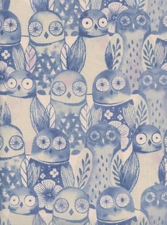 Wise Owls Lilac from Firelight for Cotton + Steel