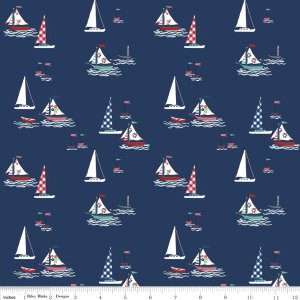 Seaside in Sailboats for Riley Blake