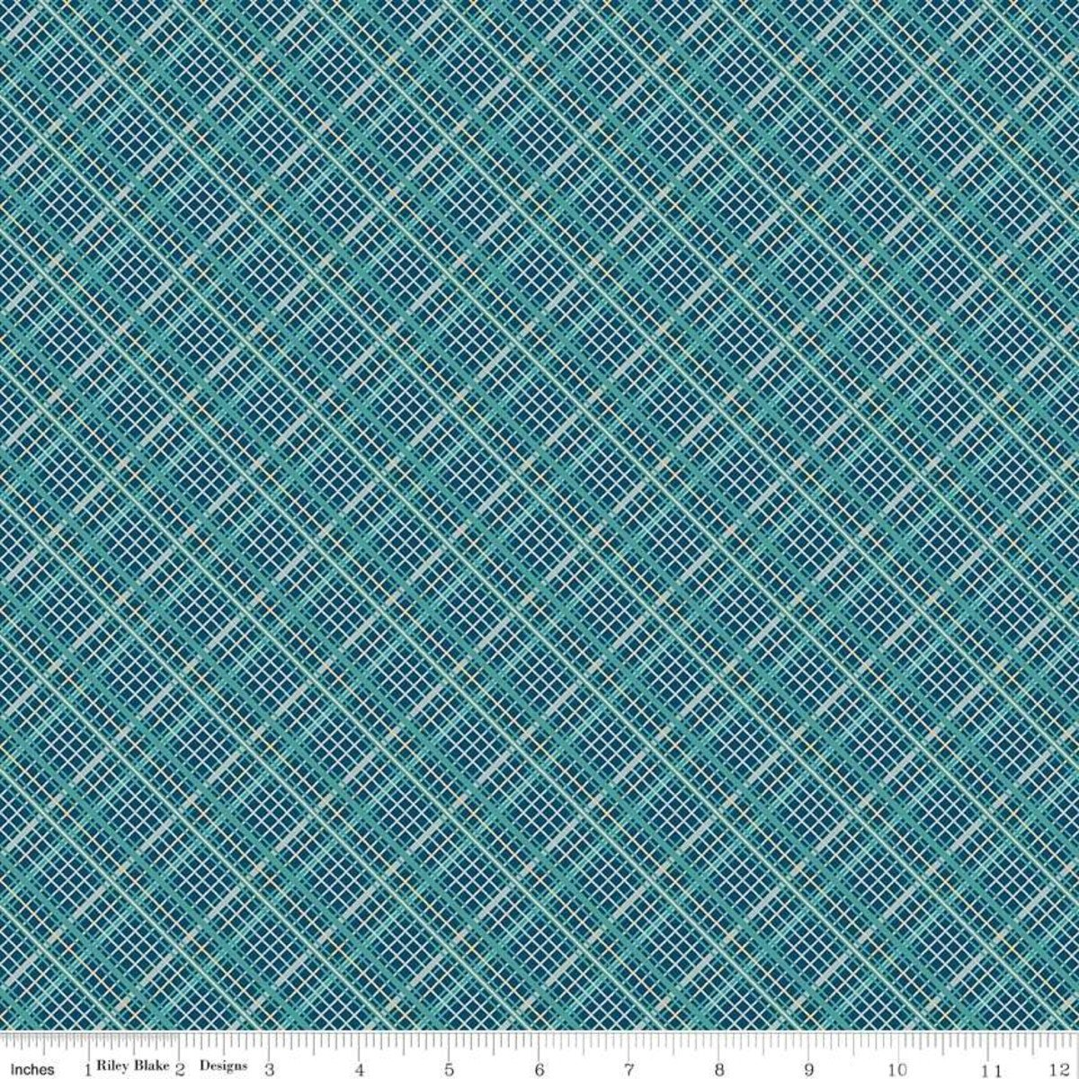 Plaid Teal from Offshore 2 by Deena Rutter for Riley Blake Designs - copy