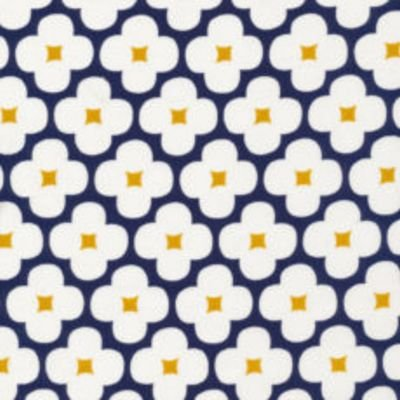 Spring Quartet - Floret Tan/Navy for Cloud9 Fabrics