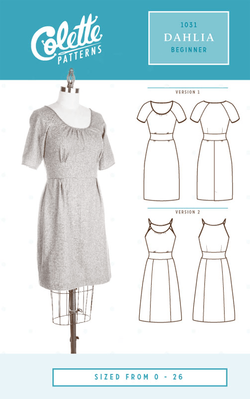 Dahlia Dress Sewing Pattern From Colette