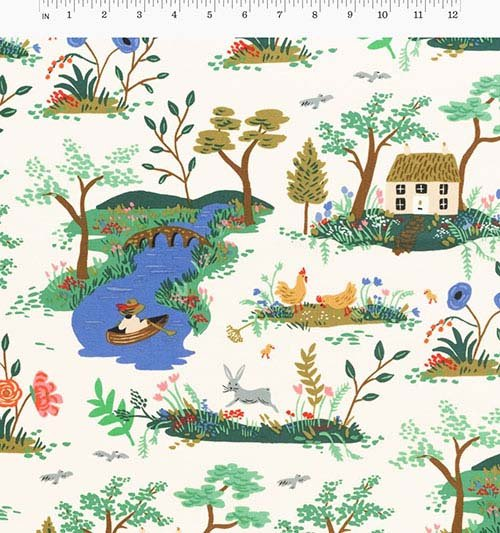 Garden Toile Cream from English Garden from Anna Bond of Rifle Paper Co. for Cotton + Steel