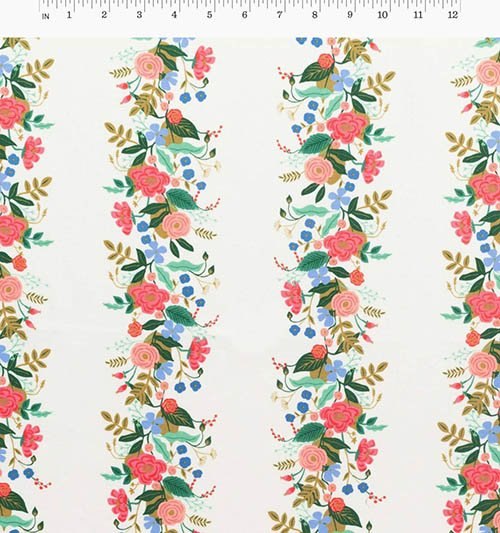 Vines Cream Fabric from English Garden from Anna Bond of Rifle Paper Co. for Cotton + Steel
