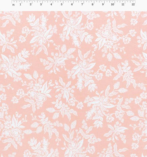 Foral Toile Peach from English Garden from Anna Bond of Rifle Paper Co. for Cotton + Steel