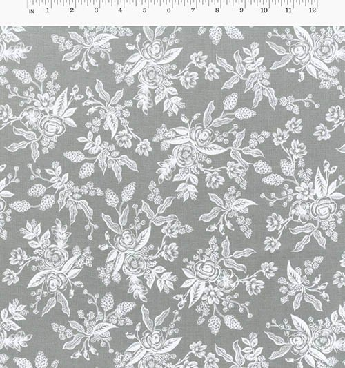 Foral Toile Gray from English Garden from Anna Bond of Rifle Paper Co. for Cotton + Steel