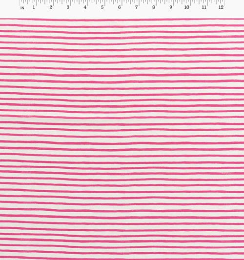 Painted Stripes Pink from English Garden from Anna Bond of Rifle Paper Co. for Cotton + Steel