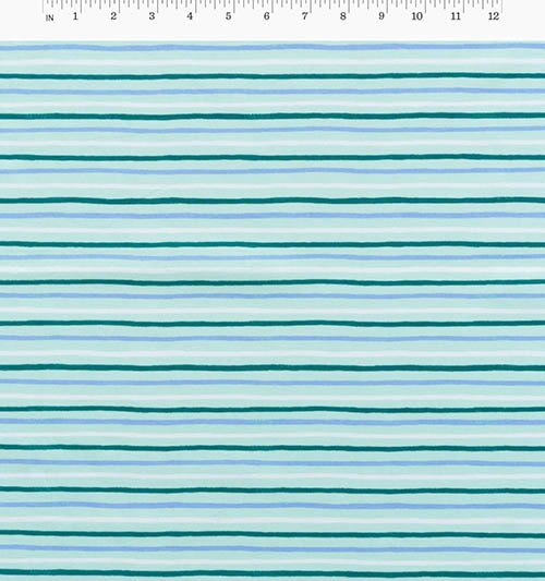 Painted Stripes Mint from English Garden from Anna Bond of Rifle Paper Co. for Cotton + Steel