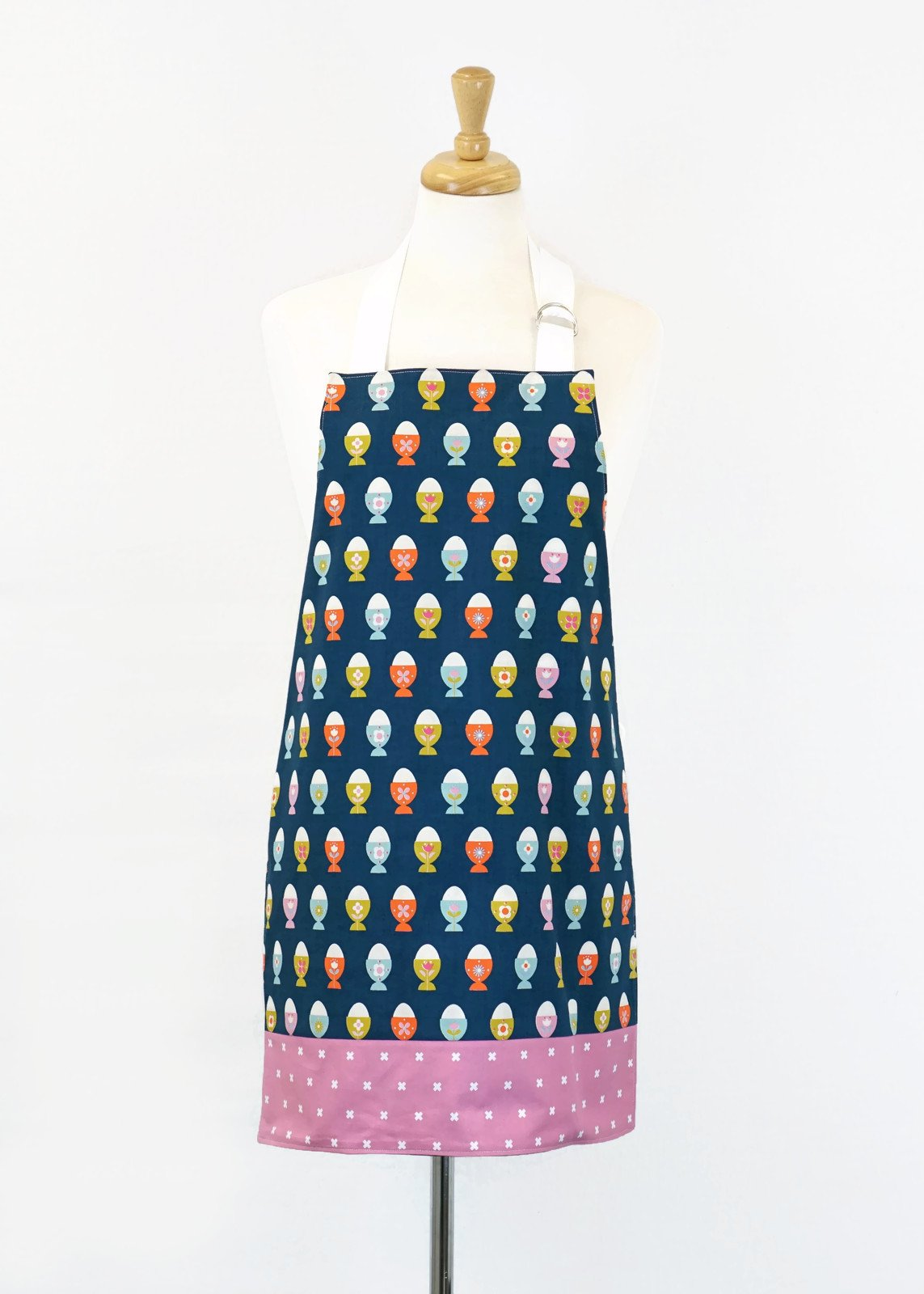 Women's Apron - Egg Cups Navy