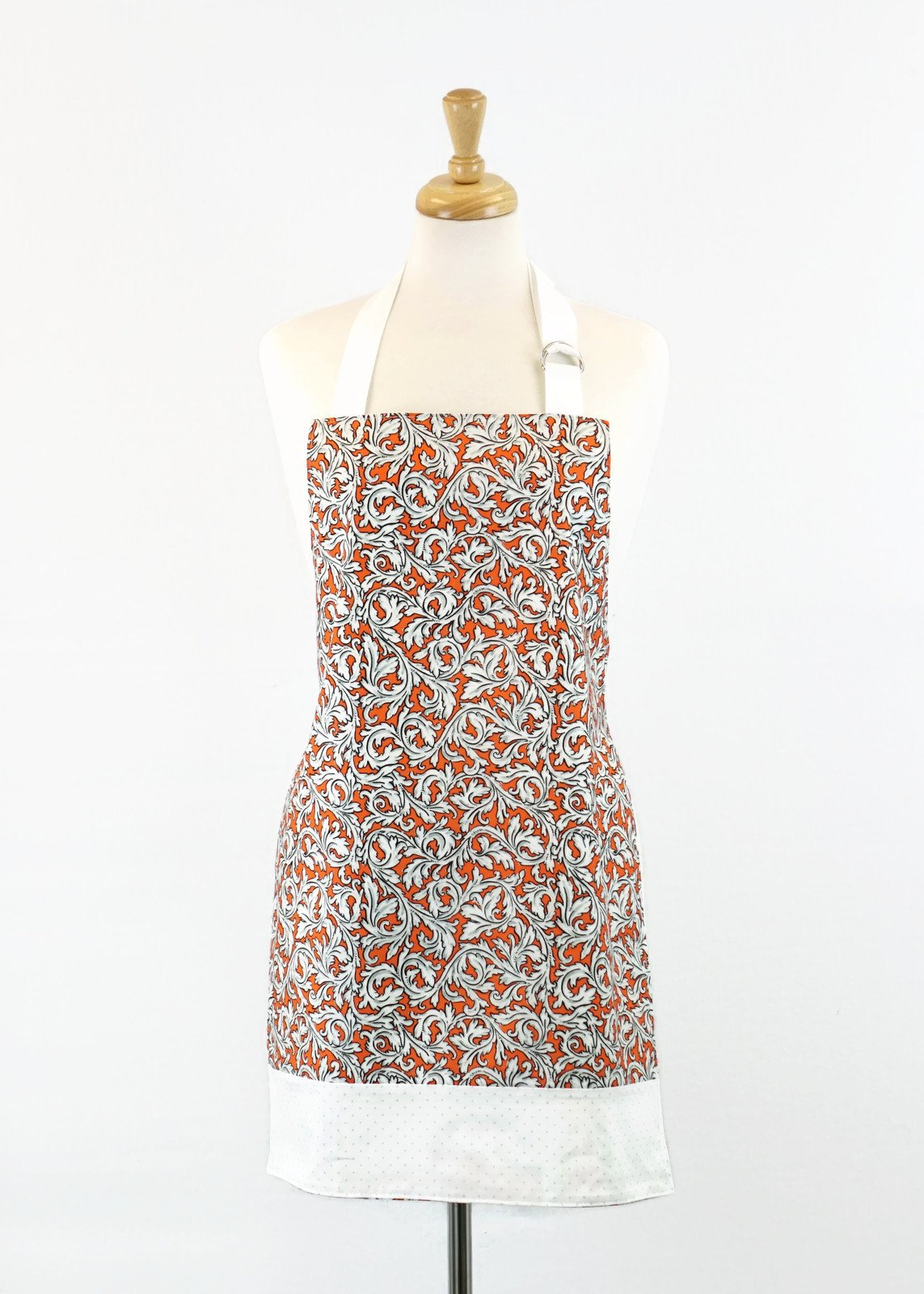 Women's Apron - Orange Flourish