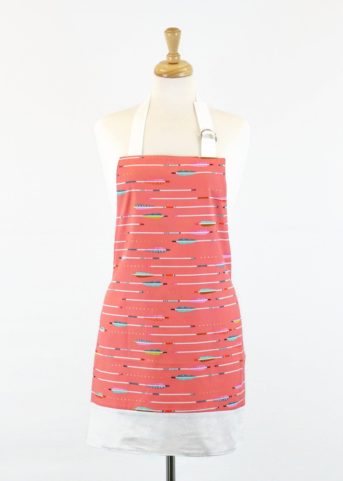 Women's Apron - Coral Arrows