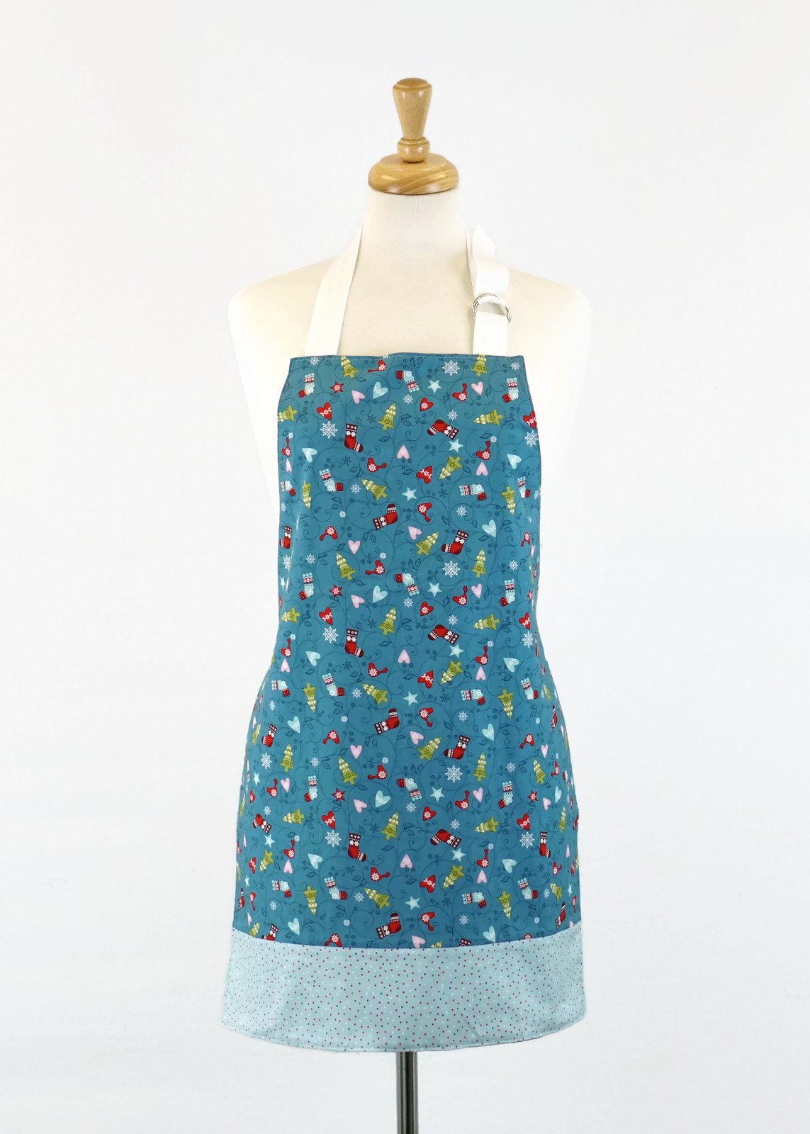 Women's Apron - Blue Christmas