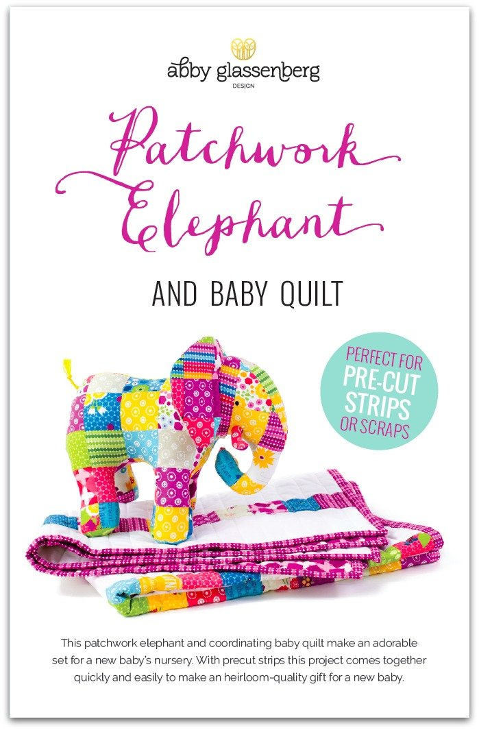 Patchwork Elephant and Baby Quilt Pattern