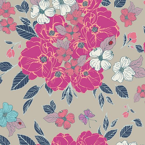Flower Child in Flowery Chant Wild by Maureen Cracknwell for Art Gallery Fabrics