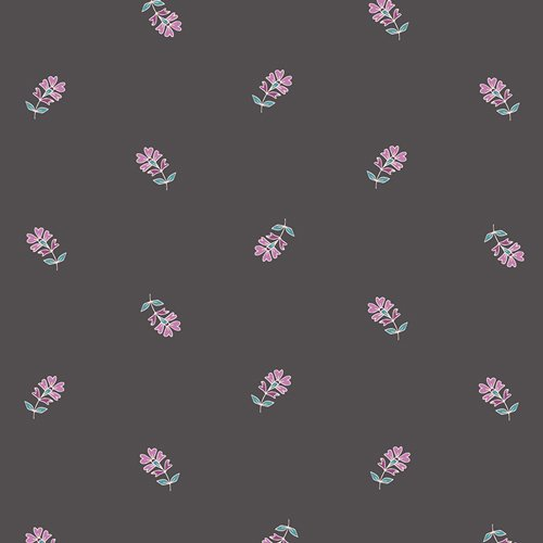 Flower Child in Sprinkled Petals Moon by Maureen Cracknwell for Art Gallery Fabrics