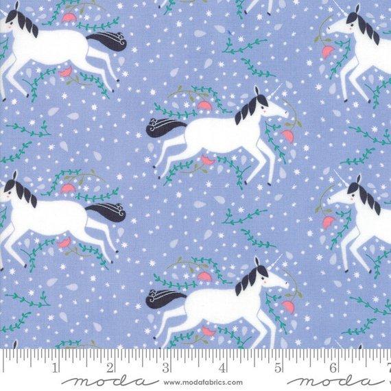 Enchanted Unicorns Lavender by Gingiber from Moda