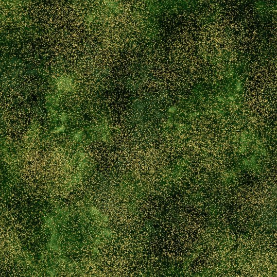 1 Yard 28 - Timeless Treasures Shimmer Green with Gold Metallic