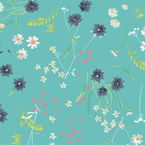 28 REMNANT Blossom Swale Calm in KNIT  from Lavish  - Katarina Roccella for Art Gallery Fabric