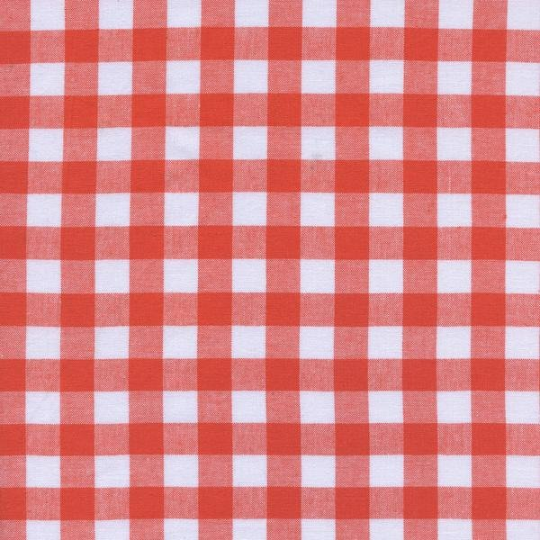 1/2 Gingham - Coral Checkers by Cotton + Steel