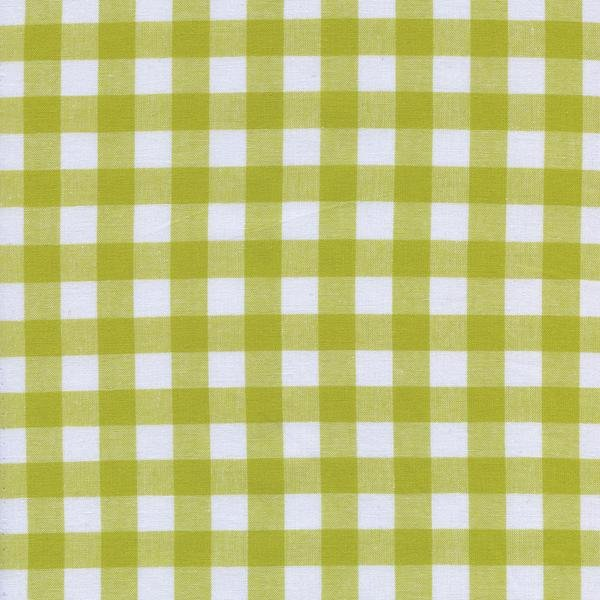 1/2 Gingham - Citron Checkers by Cotton + Steel